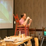 Brian Boggs teaches selecting wood for chairs.