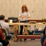 Megan Fitzpatrick teaching joinery