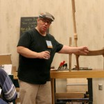 Charles Brock teaching sculpted chairs